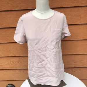 J Crew Collection silk pocket tee size 2